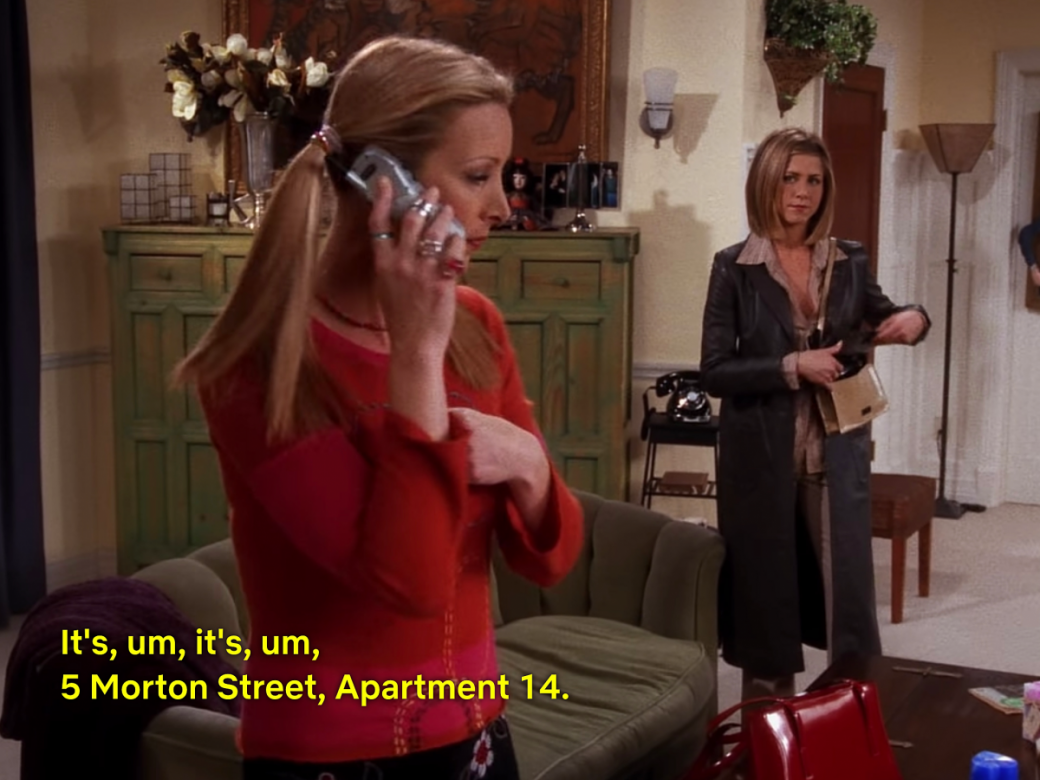 PHOEBE Apartment Number