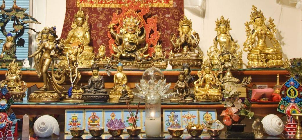 Buddhist Praying Altar