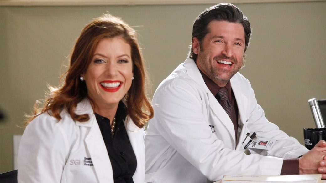 A Grey's Anatomy Reunion For Patrick Dempsey And Kate Walsh