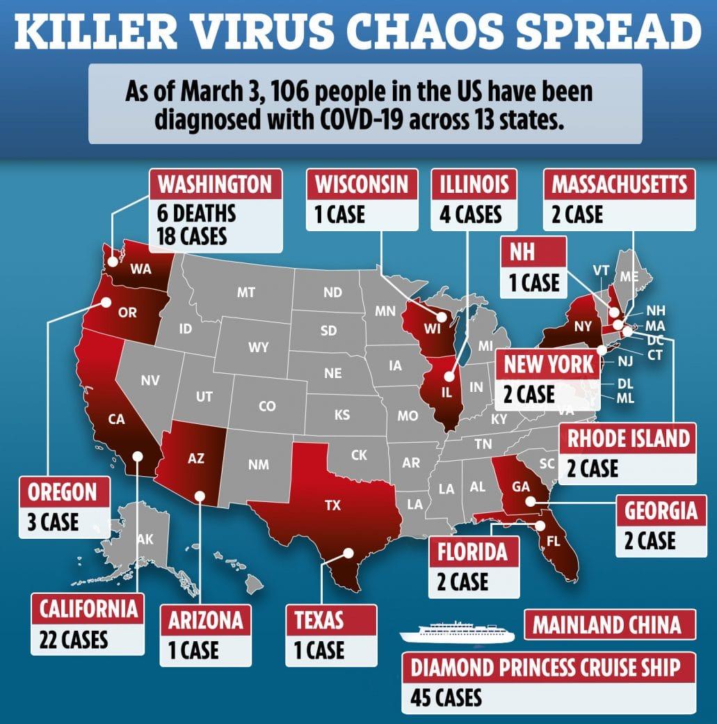 Coronavirus From America: Corona Virus Live Update: Over 100 More Infected In USA