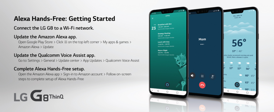 LG G8 ThinQ with Alexa