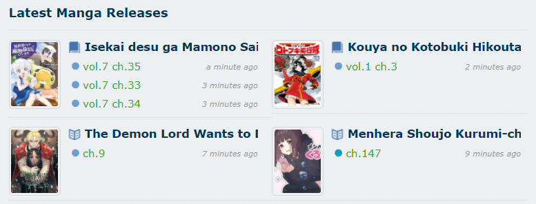 Latest Manga Updates