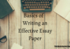Basics of Writing an Effective Essay Paper