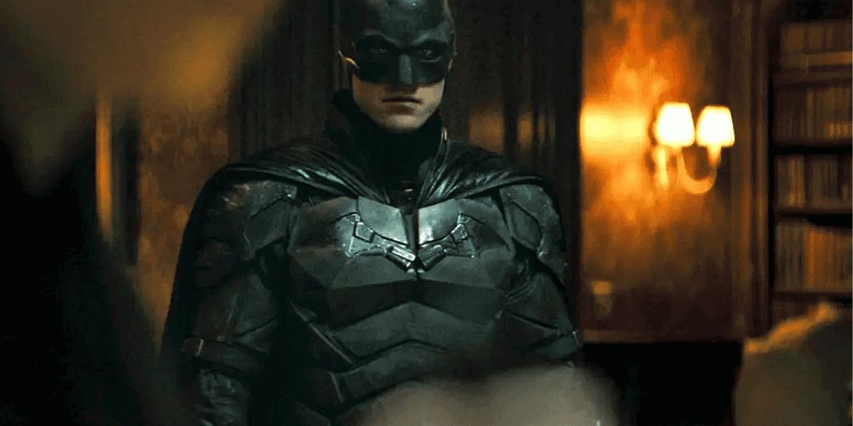 Robert Pattinson in a new Batman suit.