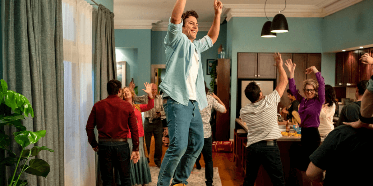 one of the main charatcer jumping around in five bedrooms season 1