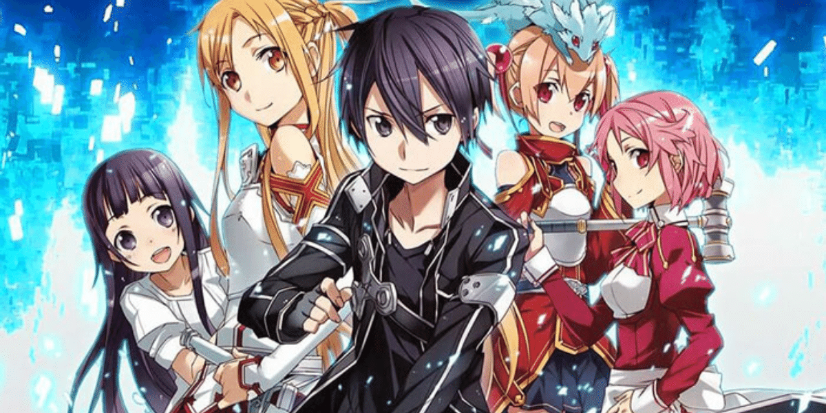 SAO official poster with all major characters