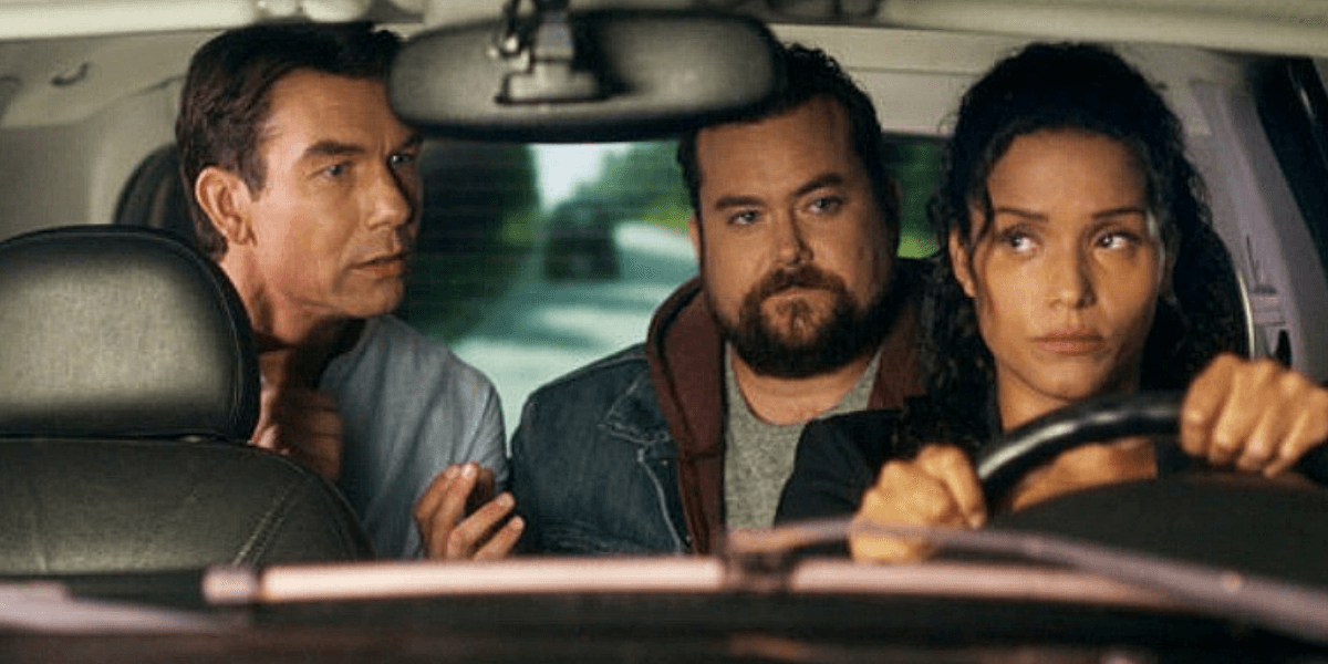 Carter's main characters in a car.