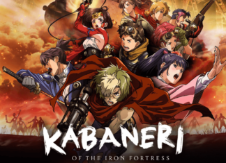 the official poster of kabaneri of iron fortress