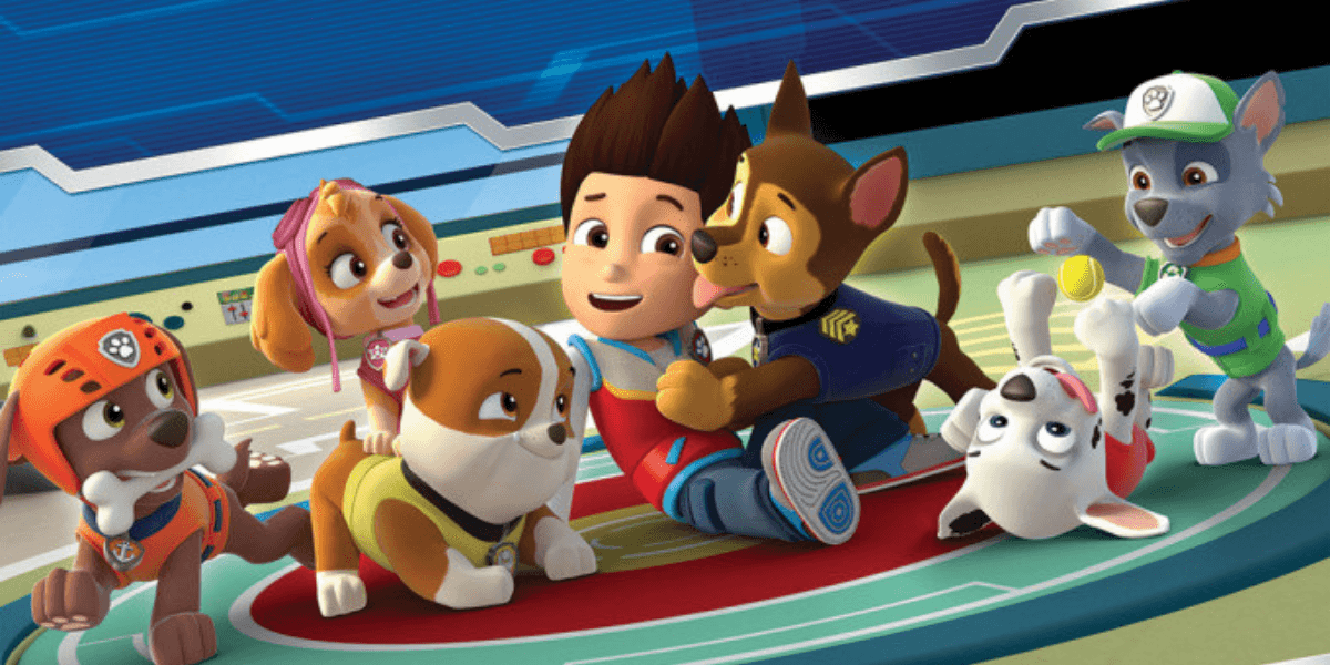 a glimpse from paw patrol: the movie showcasing the characters