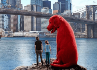 the official poster of clifford: the big red dog