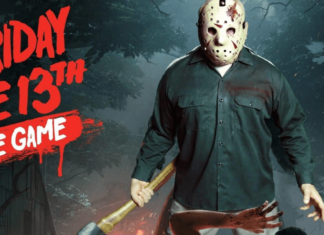 featuring the official poster of friday the 13th: the game