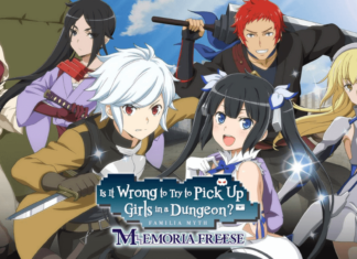 the official poster of danmachi