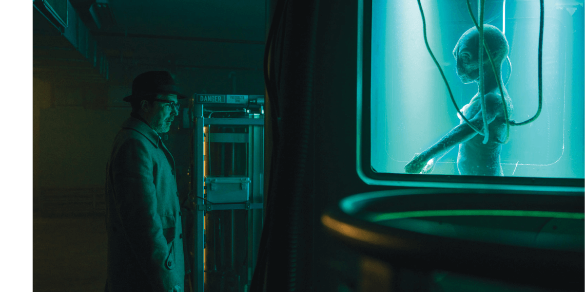 the expert examining the alien in project blue book