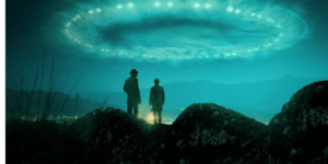 featuring aidan gillen along with the expert examining the sky and tracing steps towards a ufo