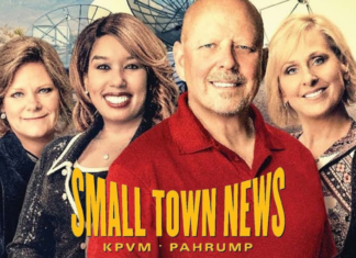 the official poster of Small Town News: KPVM, Pahrump